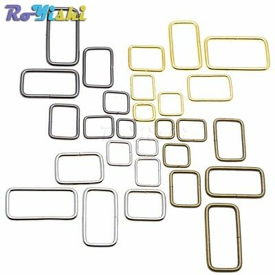 Metal Wire Formed Rectangle Ring Loops for Webbing 10 12 15 20 25 32 38mm