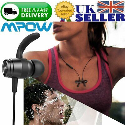 Mpow S10 Wireless Bluetooth Headphones IPX7 Sweatproof Sports Magnetic Earphones
