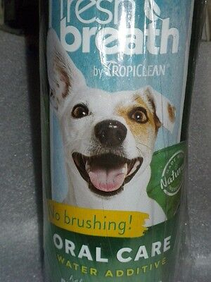 Cat Dog Teeth Tropiclean Fresh Breath Plaque Remover Pet Water Additive 33.8oz