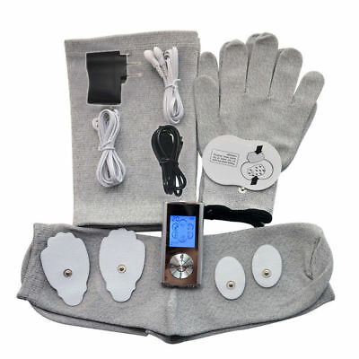 TENS MACHINE DIGITAL THERAPY FULL BODY MASSAGER+Knee Pads+Electrode Gloves+Socks