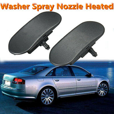 2x Windshield Washer Spray Nozzle Jet Heated For Audi A2 A3 A4 A6 A8 S4 S6 RS4