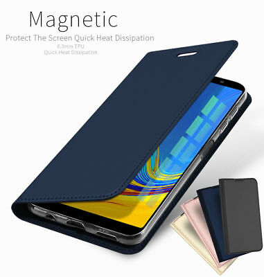 For Samsung Galaxy A7 2018 Note 10+ PU Leather Flip Case Wallet Magnetic Cover