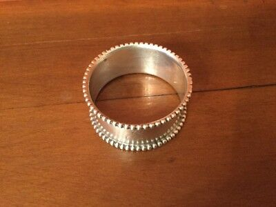VINTAGE STERLING SILVER NAPKIN RING with BEADED EDGE