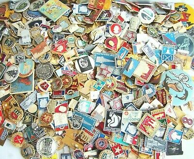 10 pcs USSR SOVIET ERA ENAMEL PINS, BADGES COLD WAR COMMUNISM CCCP #А016