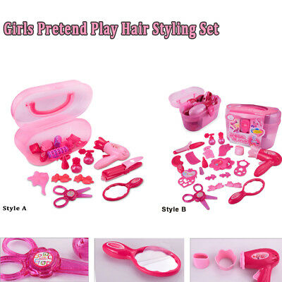 Girls Pretend Play Hair Styling Set Make Up Case and Princess Cosmetic Set Gift