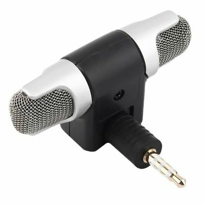 Portable Mini Digital Stereo Mic Microphone Recorder For Mobile Phone PC Laptop