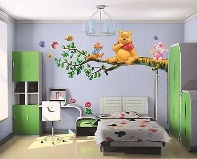 Winnie the Pooh Tree Branch Wall Art Sticker DIY Decal Kids Room Decor Removable