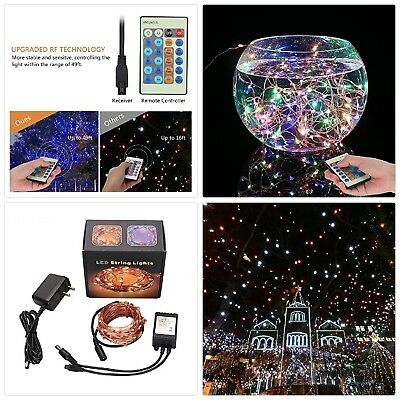 SZZCCC,String Lights,Wire Light Dimmable With Remote Control, String Light Color