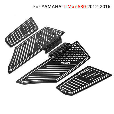 Aluminum Footpegs Pedal Plate Footrest Pads Mat for Yamaha T-Max 530 XP530 12-16