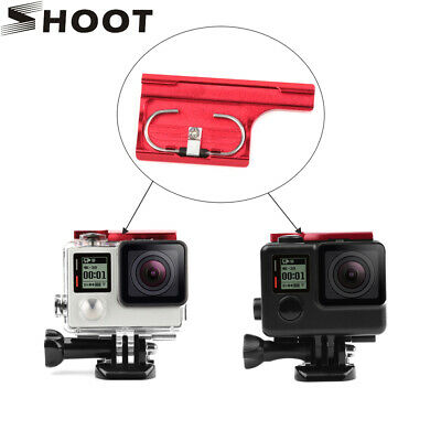 Red CNC Case Top Lock Buckle Clip Backdoor Latch for GoPro Hero 4 3+ Camera