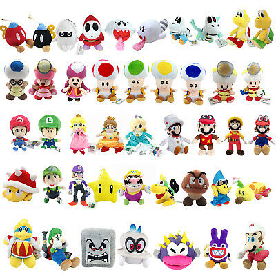 Super Mario Bros Cappy King Dedede Nabbit Toad Pokey Spike Plush Toy Optional