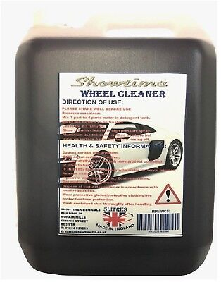5L Alloy Wheel Cleaner PROFESSIONAL Strong Strength No Acid Used by Valeters