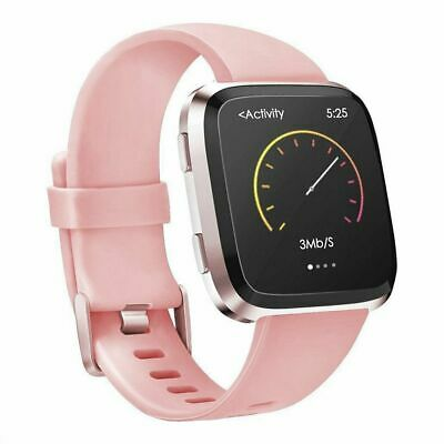 For Fitbit Versa Replacement Sport TPU Wristband Wrist Strap Watch Band Pink S L