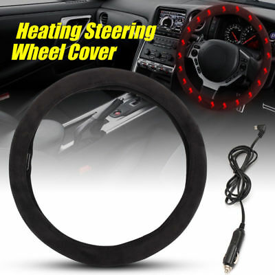 Warm Car Heating Steering Wheel Covers 12v Heated Car Charger Cigarette Lighter
