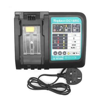 Rapid Battery Charger for Makita BL1830 BL1840 BL1850 BL1860 7.2V-18V 3A UK Plug