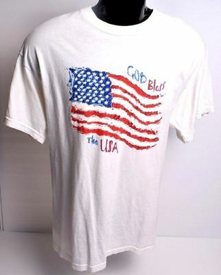 Vintage God Bless the USA Tour T-Shirt Size Mens L Graphic Tee by Delta USA made