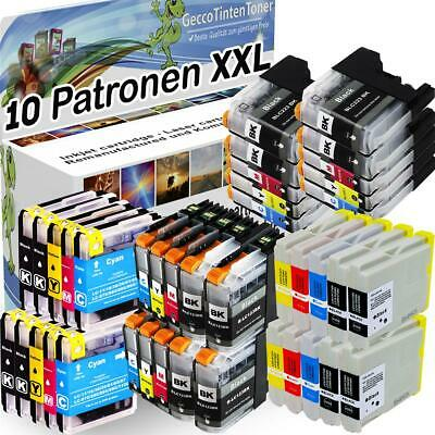 10x Patronen für Brother LC121 LC223 LC900 LC970 LC980 LC1000 LC1100 LC1220 1240