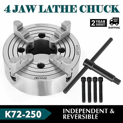 "1 pc Lathe Chuck 10"" 4-Jaw Independent & Reversible Jaw K72-250"