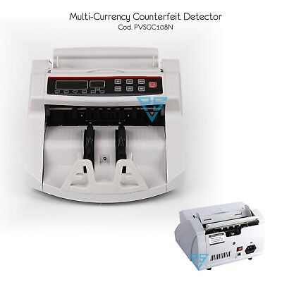 Bill Counter Multi Currency Money Count Machine Counterfeit Detector UV MG Cash