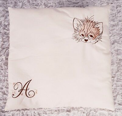 Personalised embroidery cushion for baby, kids, room or pram decoration