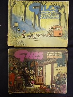 Lot of 2 Vintage Giles Annuals 1948/49 & 1949/50 Third & Fourth Series