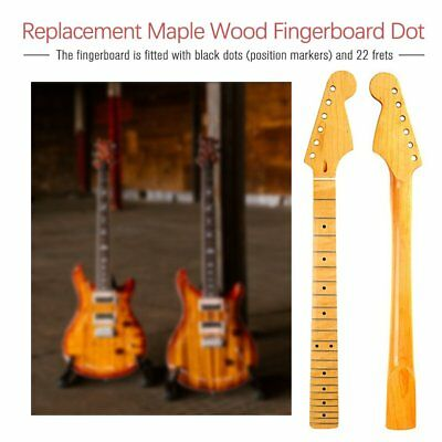 Maple Wood Replacement Neck Fingerboard Dot Fret for ST Strat Electric Guitar WL