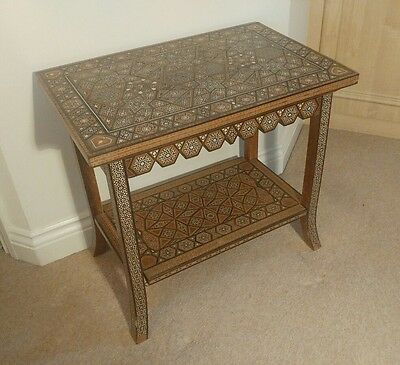 "ABSOLUTELY STUNNING EARLY/MID 20thC INTRICATELY INLAID ""SYRIAN"" SIDE TABLE"