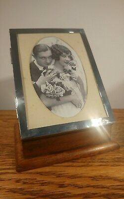 Lovely Quality Silver Manicure Set & Photo Frame Box By S&M H/M Birmingham 1920