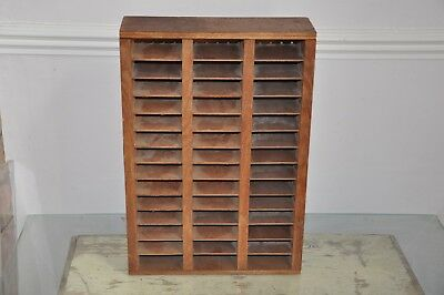 Small Wooden Pigeon Holes Storage Shelves Vintage Industrial Salvage