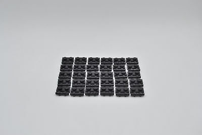 LEGO 30 x Platte mit Griff schwarz black Plate with handle 2540 254026 4140588