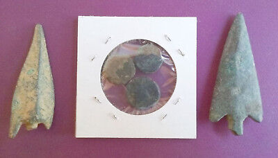 ANCIENT GREEK Coins and Arrowheads - 350 to 30 BCE - Coins from ISRAEL - Bronze