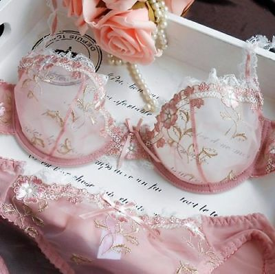 13aff45d8ae Women Gorgeous Embroidery Floral Lace Bra and knickers Sets Lingerie Set  ABCDEF