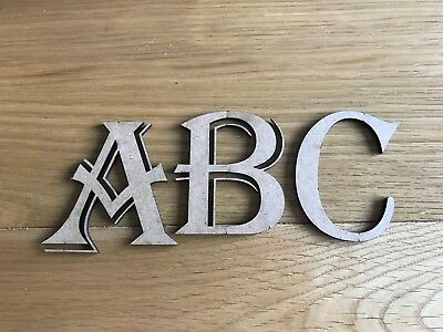 """Wooden  letters, 9MM MDF, """"Old English"""" Names, Numbers, Christmas box"""