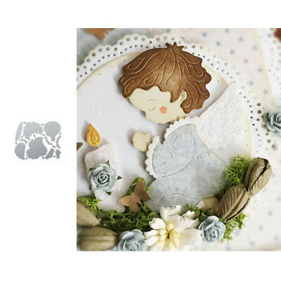 Pray Angel Baby Metal Cutting Dies Stencil Scrapbook Craft Embossing Card Decor