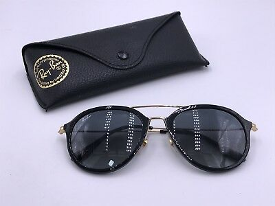 b5f92de356171 Ray Ban RB4253 601 71 Gloss Black  Gold   Grey Gradient AUTHENTIC ITALY