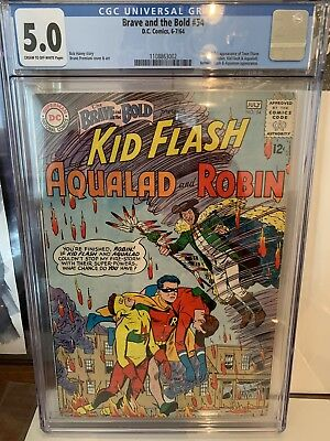 Brave and the Bold #54 1964 CGC 5.0 1st app. Teen Titans! Silver Age Key DC