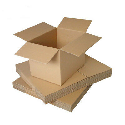 "Single Wall Postal Mailing Cardboard Boxes 9""x 9""x 9""  Removal Moving Quality"