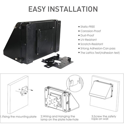 LED Wall Pack Light IP65 60W 7200lm Area,300W Hps/HID Replacement,5000K Daylight