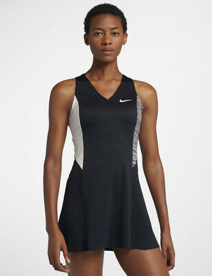 Nike Court Dry Maria Sharapova Tennis Dress - AH7851 010 - Sz S - Blk/WolfGrey