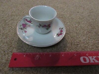 Chinese Rose Pattern Tea Cup and Saucer teacup