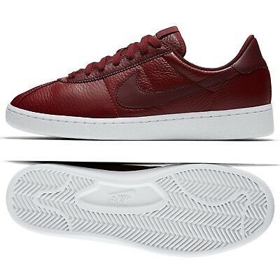 30897b0ef583 Nike Bruin Leather 845056-601 Team Red White Night Maroon Swoosh Men s Shoes