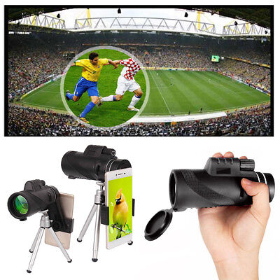 US 40X60 Magnification Monocular Telescope Camera Lens With Phone Holder Tripod
