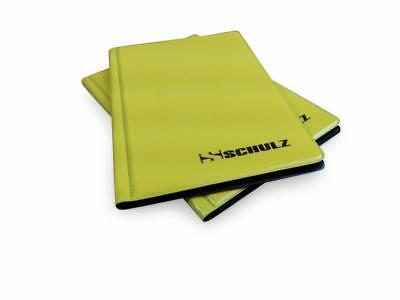 Coin Album SCHULZ 96 Collection Holder Folder Storage Book Case 50p £1 £2 Yellow