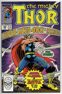 THE MIGHTY THOR #400 - 1989 - SIGNED by RON FRENZ - 9.6 OR BETTER