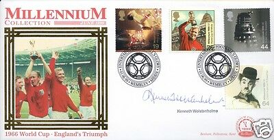 Kenneth Wolstenholme Signed 1966 World Cup Postal Cover - Uacc & Aftal Rd