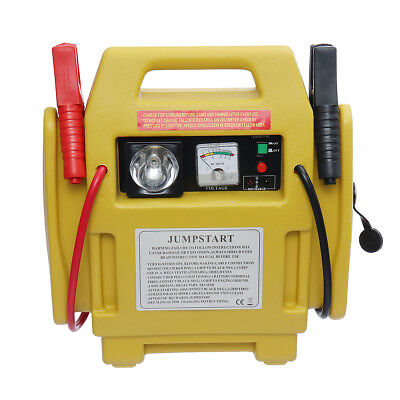 DC 12V Air Compressor Pump Portable Battery Start Booster Charger Leads Tire