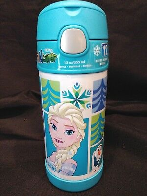 Thermos Funtainer 12 Ounce Bottle, Frozen Aqua NEW