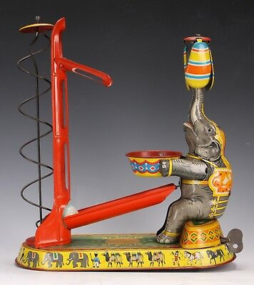 Antique German Tin Circus Elephant Wind Up Toy