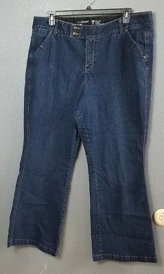 Lane Bryant Women's Plus 20 Tighter Tummy Technology Flare Stretch Jeans Bootcut