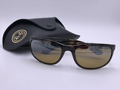 9dd5f05349 Ray Ban RB4265 CHROMANCE 710 A2 Polarized Brown Mirror TORTOISE AUTHENTIC